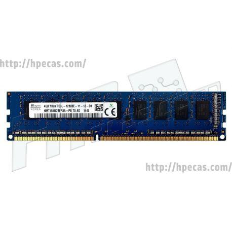 Memória HP 4GB (1x 4GB) 1Rx8 PC3L-12800E DDR3-1600 ECC CL11 1.35V (821223-081, 823810-001)
