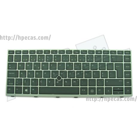Teclado HP MT44, MT45, EliteBook 745 G5, 745 G6, 840 G5, 840 G6, 846 G5 com Backlight E Privacy (L14378-131) N