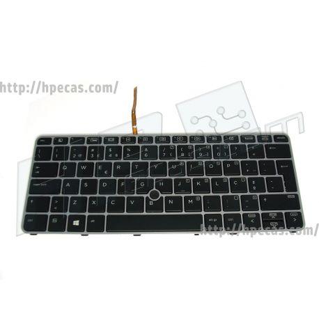 HP Teclado Português com Backlit e PointStick para EliteBook 725 G3, 725 G4, 725 G4, 820 G3, 820 G4 (826630-131) N
