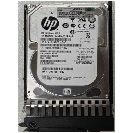 "HPE 1TB 7.2K 2.5"" 3G SATA SP HDD (626162-001) N"