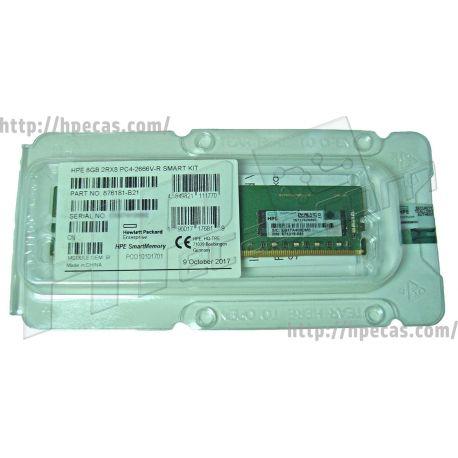 HP SM 8GB (1X8GB) 2Rx8 PC4-21300V-R DDR4-2666 Registered CL19 ECC 1.2V STD (878490-001, 876181-B21, 876182-B21, 876319-081) N