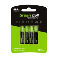 Green Cell 4x AAA HR03 Baterias 800mAh (GR04)