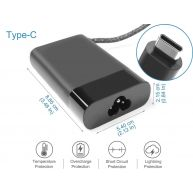 Carregador HP Original Smart 65W 20V 3.25A USB Type-C (AC185, L04540-007, L04650-850) N