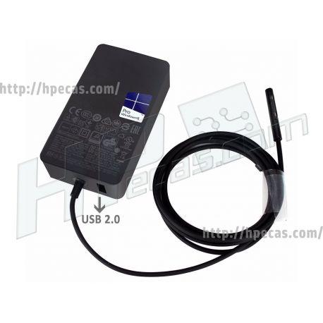 Carregador Original Surface (1706) 65W 15V 4A Additional USB 2.0 Port: 5V 1A 5W