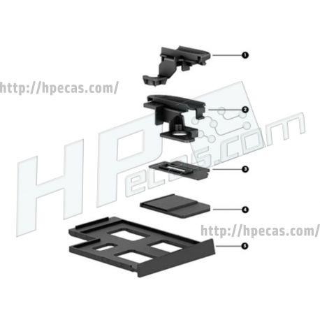 HP ZBook 17 G1, G2 Mobile Workstation Plastics Kit (733637-001) N