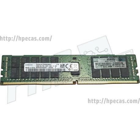 Memória HPE 32GB (1x 32GB) 2RX4 PC4-19200T-R DDR4-2400 REG / ECC CL17 1.2V STD SmartMemory (805351-B21, 809083-091, 819412-001, KTH-PL424/32G, MTA36SF4G72PZ-2G3A1IG) N