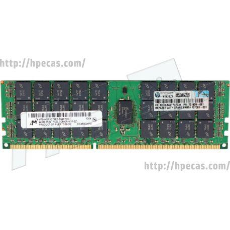 HPE 24GB (1x24GB) 3Rx4 PC3L-10600R-9 DDR3-1333 ECC 1.35V IPL LV-RDIMM 240-pin STD (700404-B21, 700404-S21, 700405-B21, 701809-081, 707301-001) R