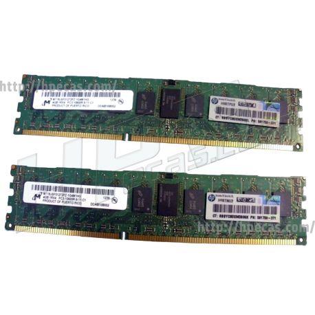 HPE 8GB (2X4GB) 1RX4 PC3-10600R DDR3-1333 Registered CL9 ECC 1.50V STD (591750-371, AM230A, AM327-69001, AM327A) N