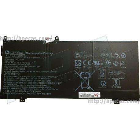 HP SPECTRE X360 13-AE Bateria HP CP03XL Original de 3 células 11.55V 60.9Wh 5011mAh (929066-421, 929072-855, CP03060XL-PL, HSTNN-LB8E) N