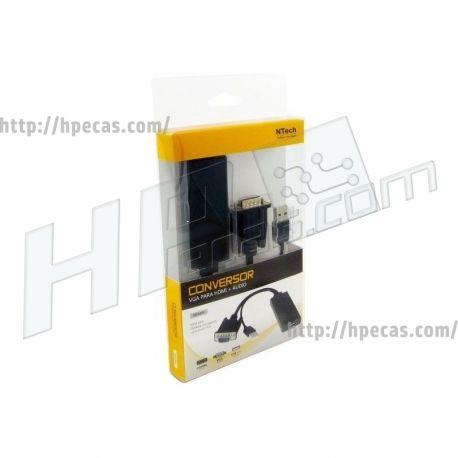 Cabo Conversor VGA (M) para HDMI A (F), USB (ID24257)