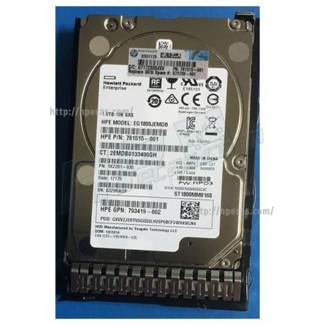 """HPE Disco 1.8TB SAS 12G Enterprise 10K SFF 2.5"""" SC 512e DS HDD (872481-B21, 872738-001) FS"""