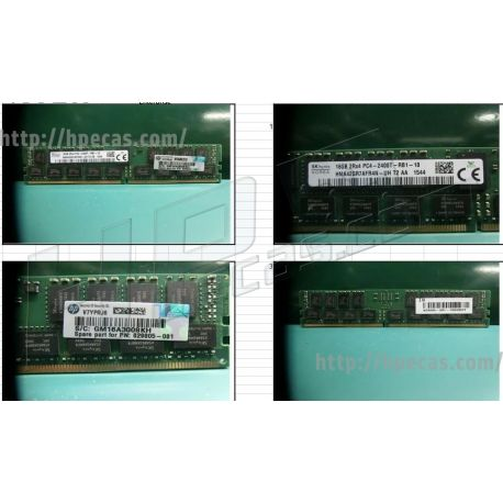 HPE 16GB (1x16GB) 2Rx4 PC4-19200T-R DDR4-2400 ECC CAS:17-17-17 1.20V RDIMM STD (854785-001) R