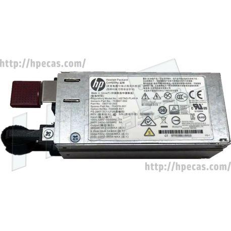 HPE 800W/900W Hot-Plug AC Power Supply 1U (743907-001, 743907-002, 744689-B21, 745710-201, 745710-202, 754376-001, 813534-B21, HSTNS-PL48) R