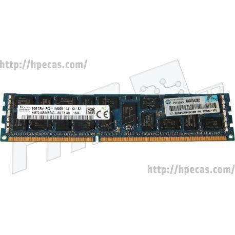 HPE 8GB (1x8GB) 2Rx4 PC3-14900R-13 DDR3-1866 ECC 1.50V RDIMM 240-pin STD (708639-B21, 708639-S21, 708640-B21, 708640-S21, 712382-071, 715273-001) N