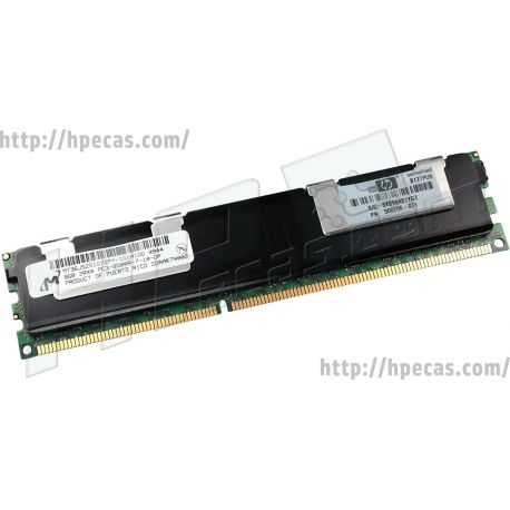 HPE 8GB (1x8GB) 2Rx4 PC3-8500R-7 DDR3-1066 ECC 1.50V RDIMM 240-pin STD (500206-071, 500664-B21, 500664-S21, 501537-001, 516423-B21, 516423-S21, 516424-B21, 516424-S21, 519201-001) N