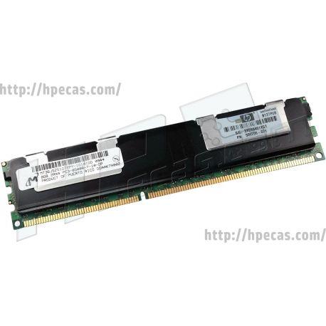 HPE 8GB (1x8GB) 2Rx4 PC3-8500R-7 DDR3-1066 ECC 1.50V RDIMM 240-pin STD (500206-071, 500664-B21, 500664-S21, 501537-001, 516423-B21, 516423-S21, 516424-B21, 516424-S21, 519201-001) R