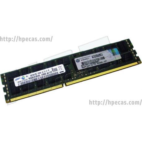 HPE 8GB (1x8GB) 2Rx4 PC3-10600R-9 DDR3-1333 ECC 1.50V RDIMM 240-pin STD (500205-071, 500205-171, 500205-271, 500662-B21, 501536-001, 536890-001, 593913-B21, 595097-001, A0R56A, FX622AA, FX622UT) N