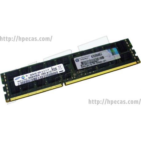 HPE 8GB (1x8GB) 2Rx4 PC3-10600R-9 DDR3-1333 ECC 1.50V RDIMM 240-pin STD (500205-071, 500205-171, 500205-271, 500662-B21, 501536-001, 536890-001, 593913-B21, 595097-001, A0R56A, FX622AA, FX622UT) R