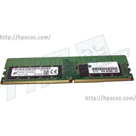 HP 16GB (1X16GB) 2Rx8 DDR4-2133P-E CAS-15-15-15 Unbuffered ECC Standard Memory Kit (797259-591, 805647-B21, 840818-001, N0H88AA, N0H88AT) N