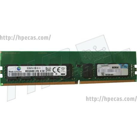 HPE 16GB (1X16GB) 2Rx8 DDR4-2133P-E CAS-15-15-15 Unbuffered ECC Standard Memory Kit (805671-B21 819801-001 797259-091) N