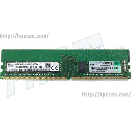 HPE 16GB (1x16GB) 2Rx8 PC4-19200T-E DDR4-2400 ECC SDP CAS:17-17-17 1.20V UDIMM STD (862690-091, 862976-B21, 869538-001) R