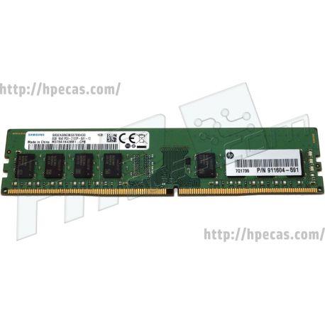 HP 8GB (1x8GB) 1Rx8 PC4-STDP-U UDIMM-2133 Non-ECC SDP CAS:15-15-15 V UDIMM  (911604-591) N