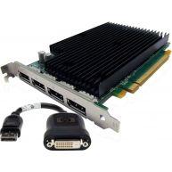 HP NVIDIA Quadro NVS 450 512MB GDDR3 PCIe x16 DisplayPortx4 Graphics Card Kit (QE170AV, QE171AV, QF979AV, QF993AV) N