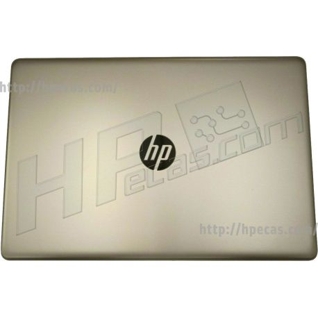 HP 17-AK, 17-BS, 17-BR, 17-BU Display Back Cover in Silk Gold for use in touch models (933292-001, L00662-001) N