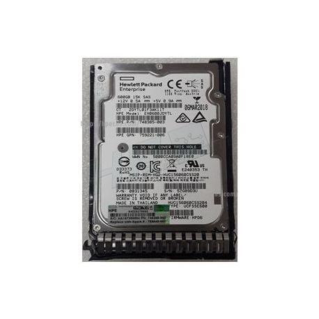 "HPE Disco 600GB 12G SAS 15K 2.5"" SC ENT HDD (759212-B21, 759548-001) R"