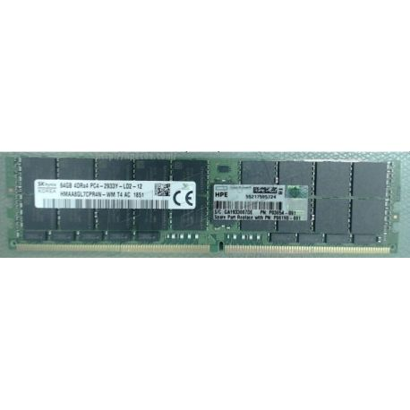 HPE Memory 64gb (1*64gb) 4rx4 Pc4-23400y-l Ddr4-2933mhz Lr (P00926-B21, P06190-001, P03054-091) FS