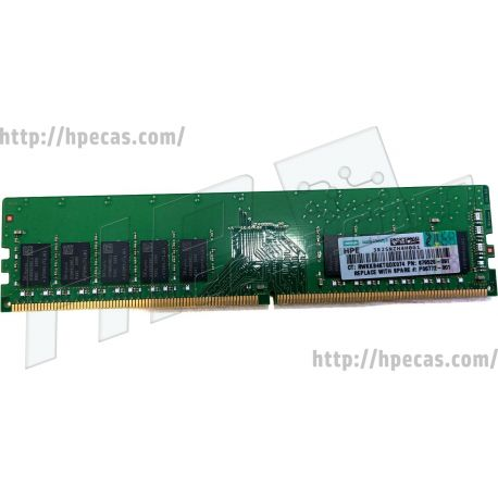 HPE 8GB (1x8GB) 1Rx8 PC4-21300V-E DDR4-2666 ECC SDP CAS:19-19-19 1.20V UDIMM 288-pin STD (879505-B21, 879505-S21, 879505R-B21, 879505R-S21, 879506-B21, 879506-S21, 879526-091, P06772-001) N