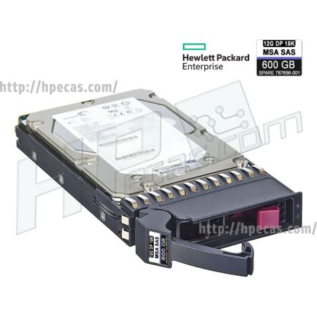 "HPE 600GB 15K 12Gb/s DP SAS 3.5"" SFF-LFF HP 512n ENT for MSA MCC HDD (787656-001, J9V70A) FS"