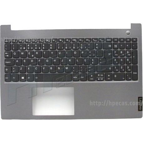Lenovo ThinkBook 15-IIL, 15-IML, TopCover Q20RW Mineral Grey com Teclado Português com Leitor de Impressão Digital e Backlit (5CB0W45224, 1KAFZZT0040) N