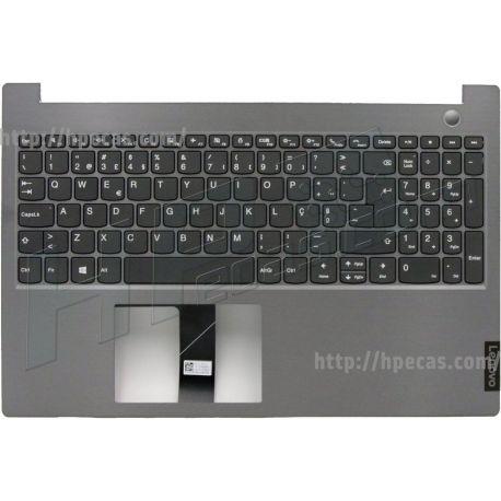 Lenovo ThinkBook 15-IIL, 15-IML, TopCover Q20RW Mineral Grey com Teclado Português com Leitor de Impressão Digital (5CB0W45349, 1KAFZZT003X) N