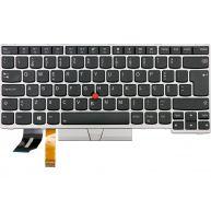 Lenovo Teclado FRU COMO FL Prata com Backlight Português para Lenovo ThinkPad E480, E485, E490, E495, L380, L390, L480, L490, P43S, T480S, T490, T495 (01YN361, 01YN441) N