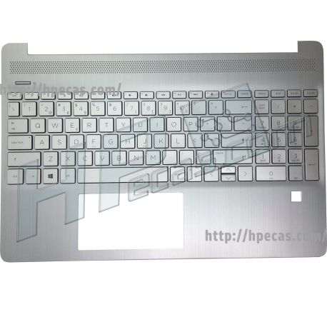 Teclado HP 15S-EQ, 15S-FQ Italiano e Top Cover Natural Silver no Backlight (L60341-061, L63578-061, L68124-061)