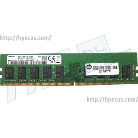 HP 8GB (1x8GB) 1Rx8 PC4-2400 Unbuffered CL17 ECC 1.20V STD (1CA79AA, 1CA79AT, 900310-591, 934797-001) N