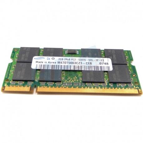 451739-001 HP 2GB (1x2GB) PC2-5300 DDR2-667 UnBuffered CL5 NON-ECC 1.8V STD