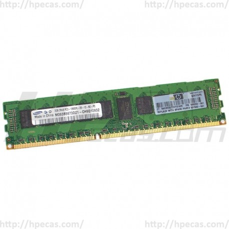 500202-061 HP 2GB (1x2GB) 2Rx8 PC3-10600 DDR3-1333 Registered CL9 ECC 1.5V STD