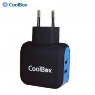 COO-RT2U COOLBOX Carregador USB 5V 3.4A 17W para Smartphone/Tablet