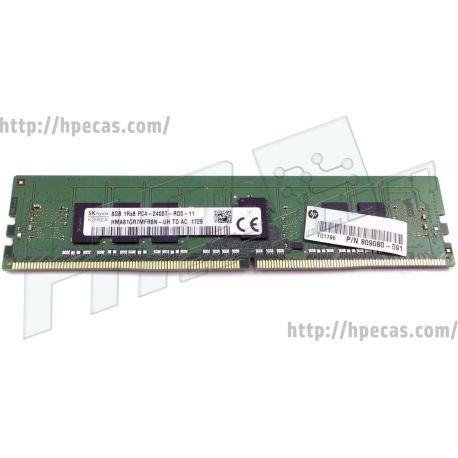 HP 8GB (1x8GB) 1R PC4-19200T-R CL17 DDR4-2400 REG ECC 1.20V RDIMM 288-pin STD (809080-591, 852261-001, 852277-001, L17369-001, T9V39AA, T9V39AT, T9V49AV) R
