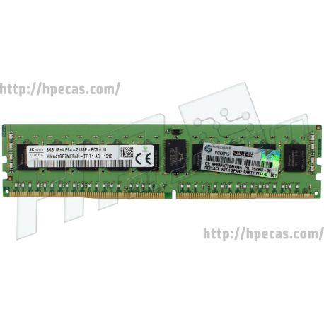 Memória Smart HPE 8GB (1x8GB) 1R PC4-2133P-R ECC SDP CAS:15-15-15 1.20V RDIMM 288-pin STD (774170-001, 752368-081, 726718-B21, 753220-201, 753220-B21, 803664-B21, 803665-B21, 812299-B21, 812300-B21, 816445-B21, 839981-B21, 839982-B21, 875969-B21) FS