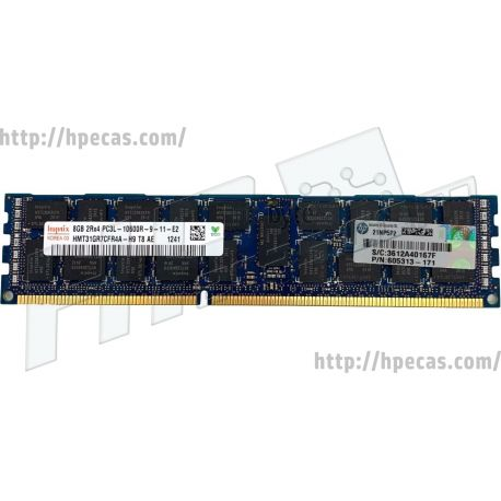 HPE 8GB (1x8GB) 2R PC3L-10600-R-9 DDR3-1333 ECC 1.35V LV-RDIMM STD (604502-B21, 604503-B21, 604506-B21, 604507-B21, 606425-001, 606427-001, 651340-B21, 652089-001, 661806-B21, 661807-B21, 696679-B21, 737570-B21, 743135-001, A0R58A) FS