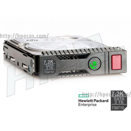 """HPE 3TB 7.2K 6Gb/s DP SATA 3.5"""" LFF HP 512n MDL Gen8-Gen10 SC HDD (713823-B21, 713962-001, 738033-B21, 738041-001, 739457-B21, 739710-001, 845645-B21, 845894-001) R"""