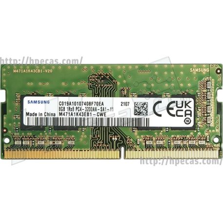 Memória HP  8GB (1x8GB) 1R PC4-3200AA-S Non-ECC SDP CAS:22-22-22 1.20V SO-DIMM 260-pin STD (13L77AA, 13L77AT, 286H8AA, 286H8UT, L46598-001, L46598-002, L46598-005, L68531-001, L71645-001, M41252-001) FS