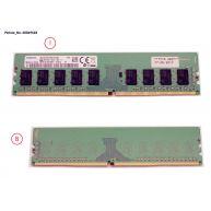 Memória FUJITSU  8GB (1x8GB) 1R PC4-2400T-E ECC SDP CAS:17-17-17 1.20V UDIMM 288-pin STD (38049548, S26361-F3909-E615, S26361-F3909-L615) N