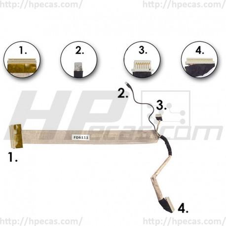 """HP Cabo Flexível para LCD de 17"""" de uma Lâmpada."""