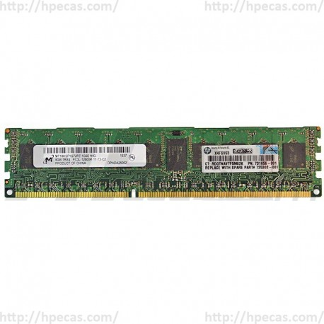 735302-001 HP 8GB (1x8GB) 1Rx4 PC3L-12800R DDR3-1600 Registered CL11 ECC 1.35V STD
