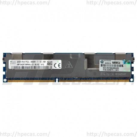 HPE 32GB (1x32GB) 4Rx4 PC3L-8500R-7 DDR3-1066 ECC 1.35V LV-RDIMM 240-pin STD (627810-B21, 627814-B21, 627815-B21, 628975-081, 628975-181, 632203-001, 632205-001, 632208-001, A0R61A) R