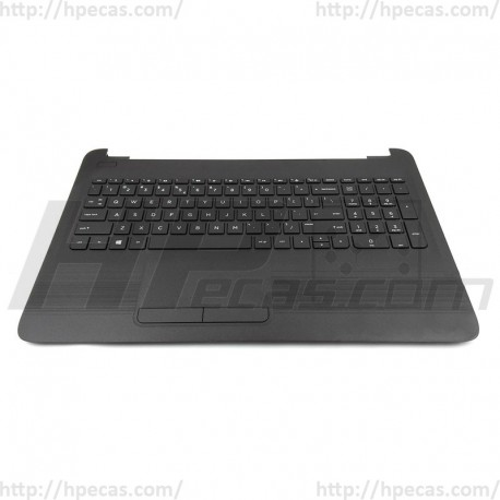 855027-131 HP Top Cover w/TouchPad and Keyboard Black Portuguese (N)